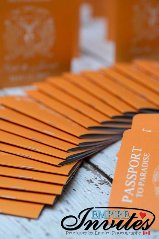 Orange Passport wedding invitations to Majestic Calonial Punta Cana (6)