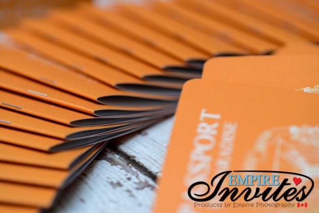 Orange Passport wedding invitations to Majestic Calonial Punta Cana (7)