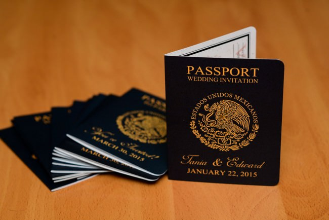 Passport Save The Date Moon Palace Mexico (2)