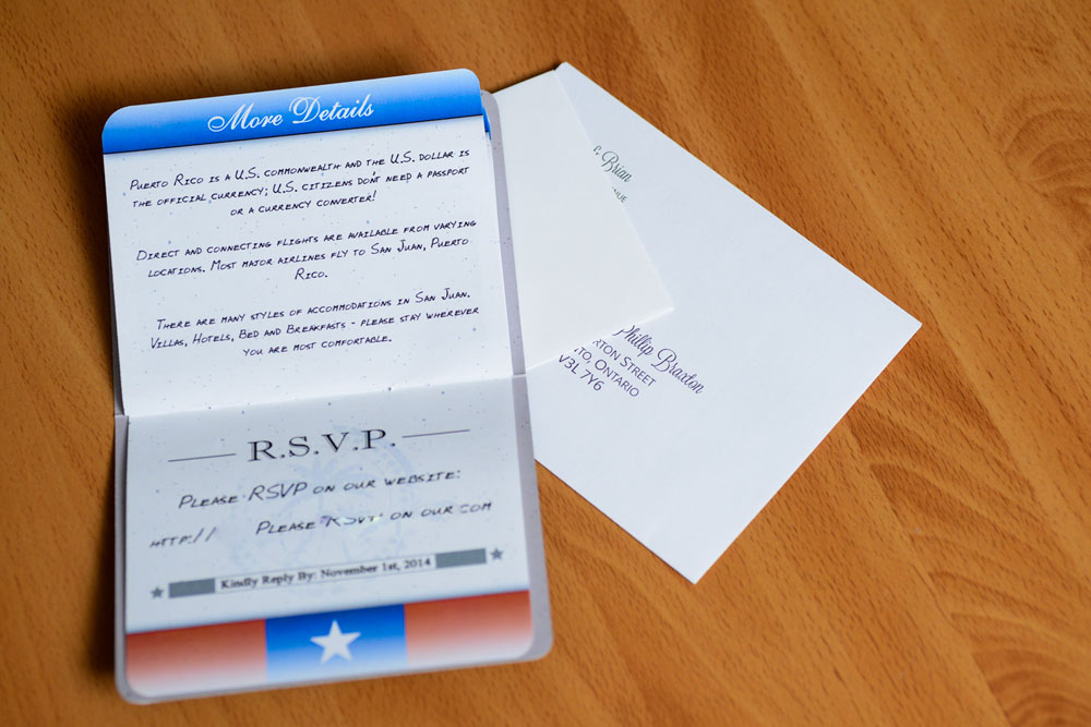 Passport wedding invitations to Terra Campestre Puerto Rico – Passport Wedding Invitation