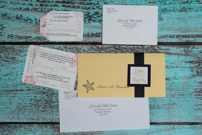 Peach Boarding Pass Wedding Invitation  (3)