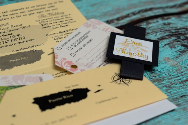 Peach Boarding Pass Wedding Invitation  (6)