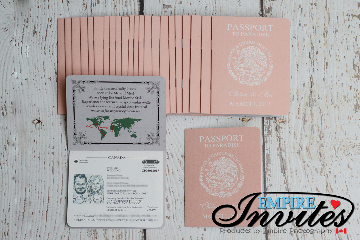 Peach passport invitations grand sunset princess mexico (4 ...