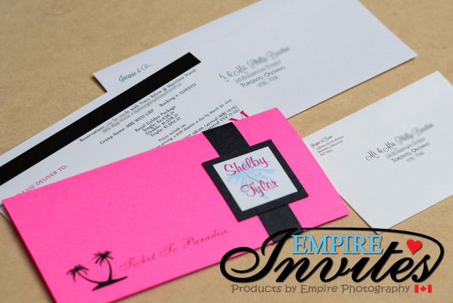 Pink Boarding Pass Wedding Invitation Grand Bahia Jamaica (3)