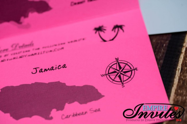 Pink Boarding pass destination wedding invitations jamaica (4)