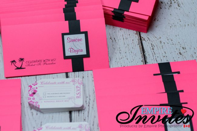 Pink Boarding pass invites to Hotel Playa Fiesta Mexico (2 of 7)