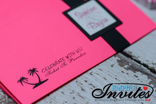 Pink Boarding pass invites to Hotel Playa Fiesta Mexico (4 of 7)