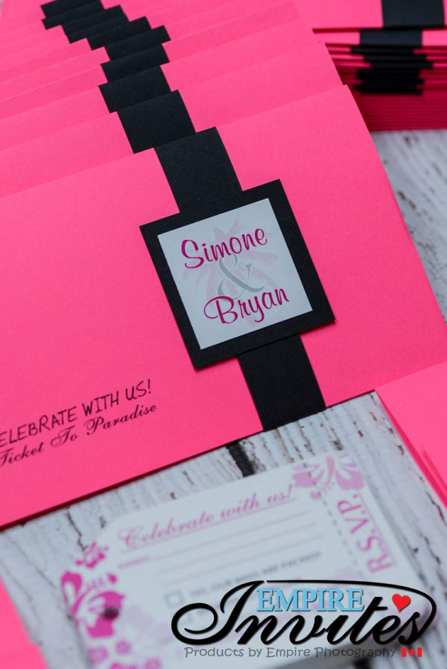 Pink Boarding pass invites to Hotel Playa Fiesta Mexico (5 of 7)