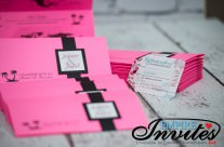 Pink Boarding Pass Invitations to Grand Sunset Princess Mexico