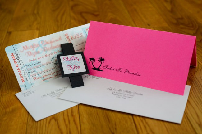 Pink Peach Boarding Pass Inviation Dreams Resort Mexico (3)
