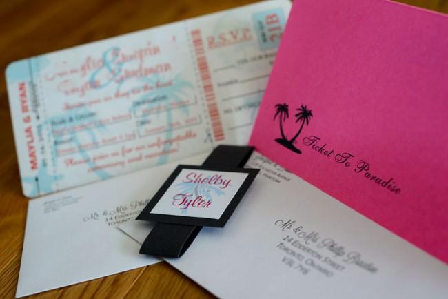 Pink Peach Boarding Pass Inviation Dreams Resort Mexico (5)