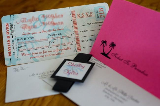 Pink Peach Boarding Pass Inviation Dreams Resort Mexico (6)