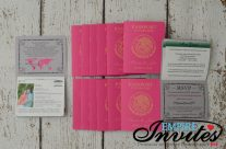 Pink Passport Wedding Invites to Grand Sunset Princess Maya