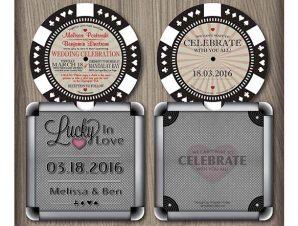 Poker Chip Wedding Invitation (Style 2)