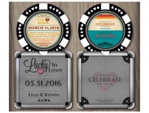 Poker Chip Wedding Invitation (Style 3)