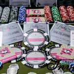 Pink Poker Chip themed invitations