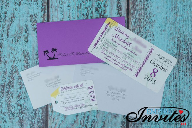 Boarding pass invite package