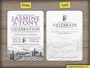 Purple Hill –  Vineyard wedding invitation