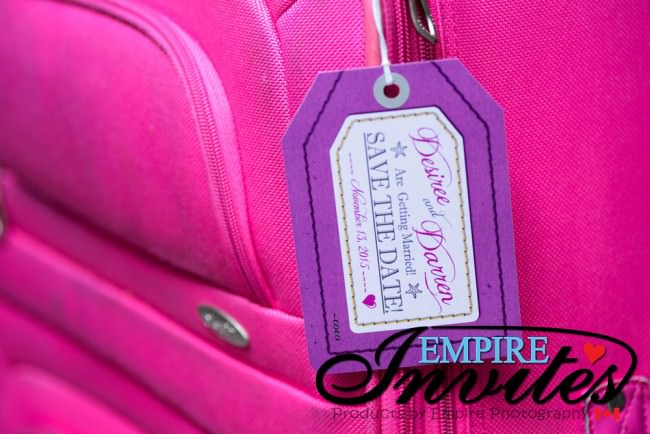 Purple Luggage tag wedding Jewel Runaway Jamaica (2)