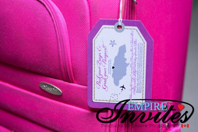 Purple Luggage tag wedding Jewel Runaway Jamaica (3)