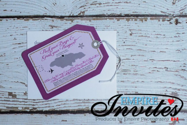 Purple Luggage tag wedding Jewel Runaway Jamaica (4)