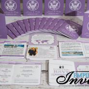 Lavender Passport Wedding Invitations to Sandals Grande Antigua