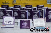 Purple Passport Wedding Invitations to Hard Rock Riviera Maya