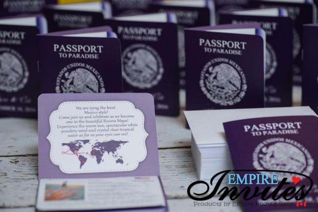 Purple passport wedding invites hard rock riviera maya mexico (2)
