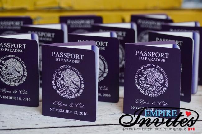 Purple passport wedding invites hard rock riviera maya mexico (3)