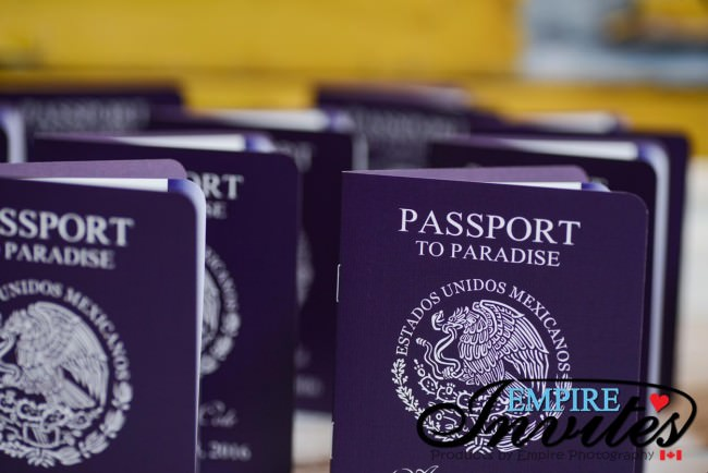 Purple passport wedding invites hard rock riviera maya mexico (4)
