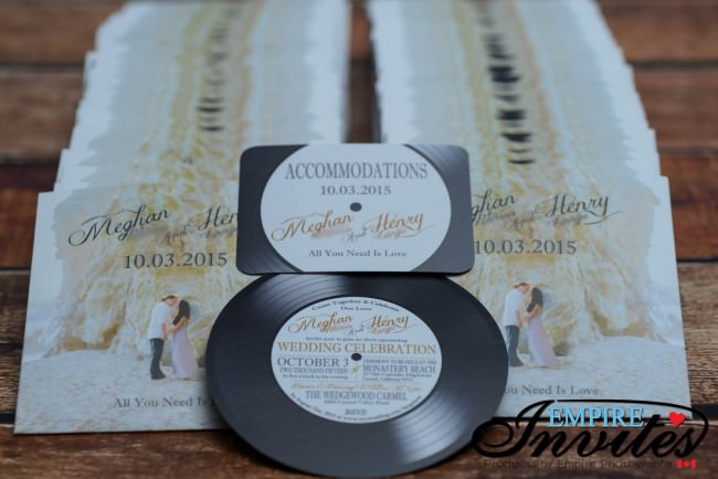 Record label wedding invitations (1)