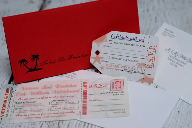 Red Boarding Pass Wedding Invite Dreams Vallarta (1)
