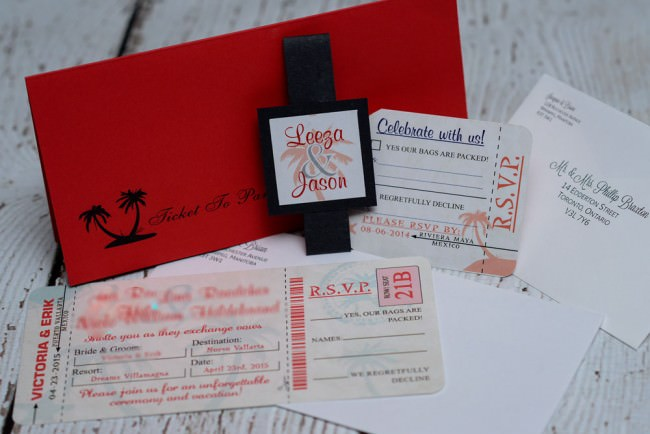 Red Boarding Pass Wedding Invite Dreams Vallarta (2)