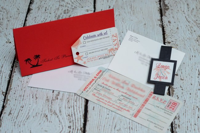 Red Boarding Pass Wedding Invite Dreams Vallarta (3)