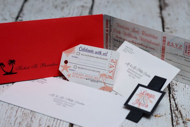 Red Boarding Pass Wedding Invite Dreams Vallarta (4)