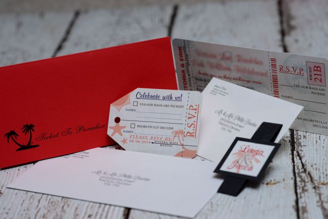 Red Boarding Pass Wedding Invite Dreams Vallarta (5)