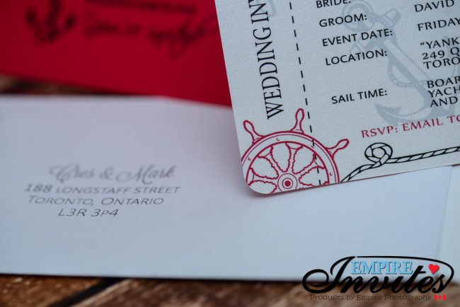 Red Nautical Boarding pass wedding invitations (3)