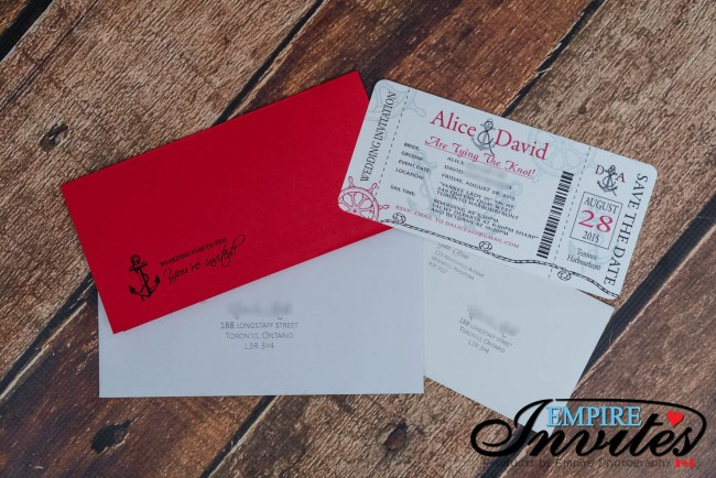 Red Nautical Boarding pass wedding invitations (5)