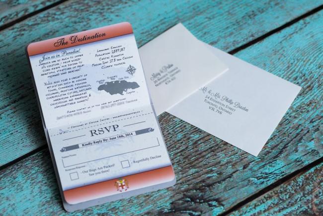 Red Passport Wedding Invitation Discovery Bay Jamaica (5)