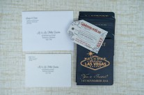 Australian Passport wedding invitation to Las Vegas