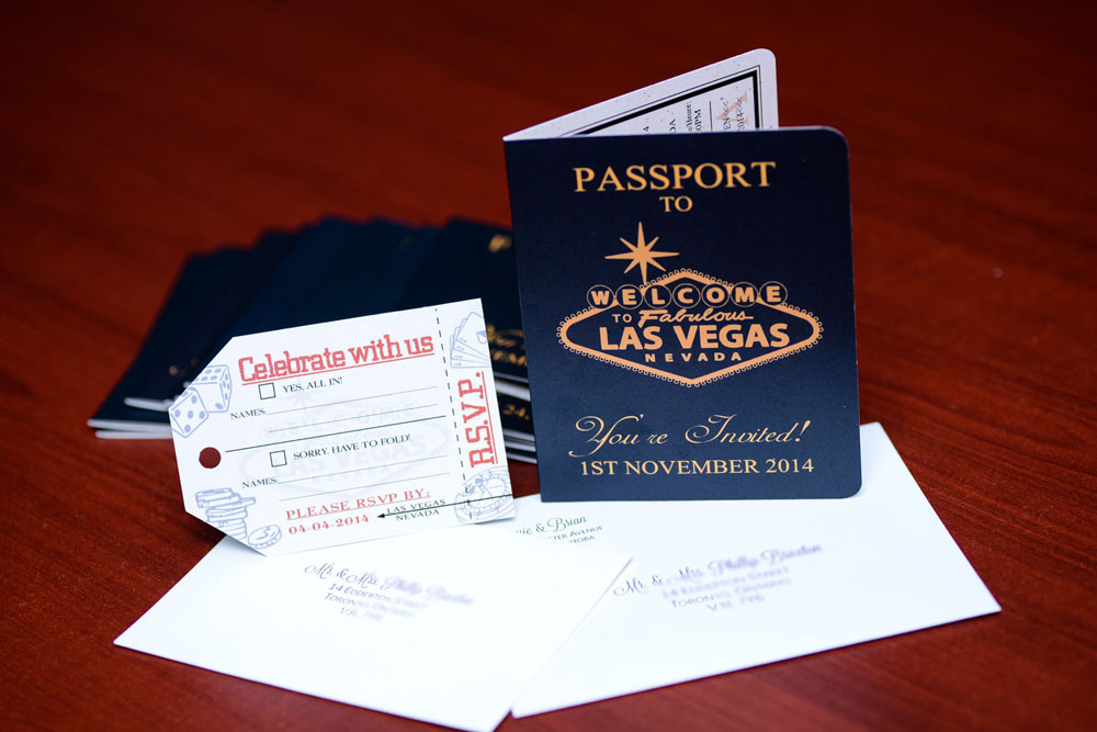 Australian Passport wedding invitation to Las Vegas | EMPIRE INVITES