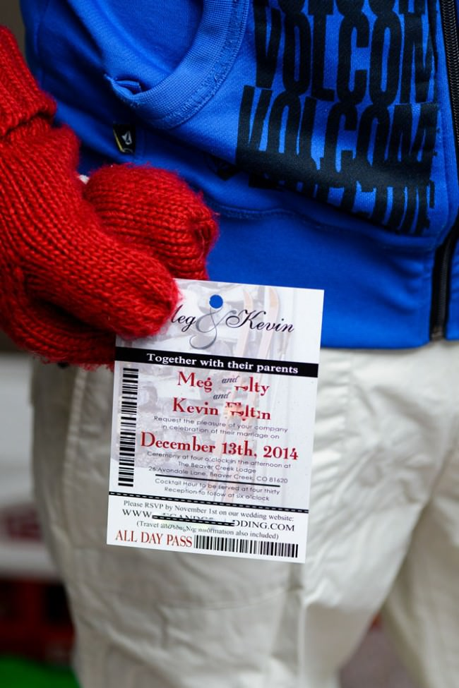 Red Ski Pass Wedding Invitation Beaver Creek Lodge  (3)