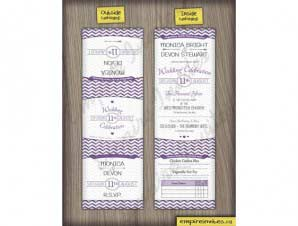 Rosedale  –  Chevron Wedding Invitations (5×5 Tri-Fold)