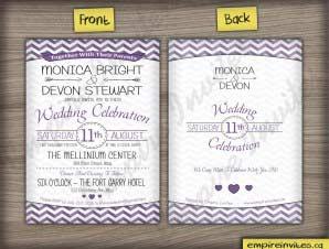 Rosedale – Chevron wedding invitation
