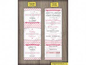 Rosedale  –  Plaid Wedding Invitations (5×5 Tri-Fold)