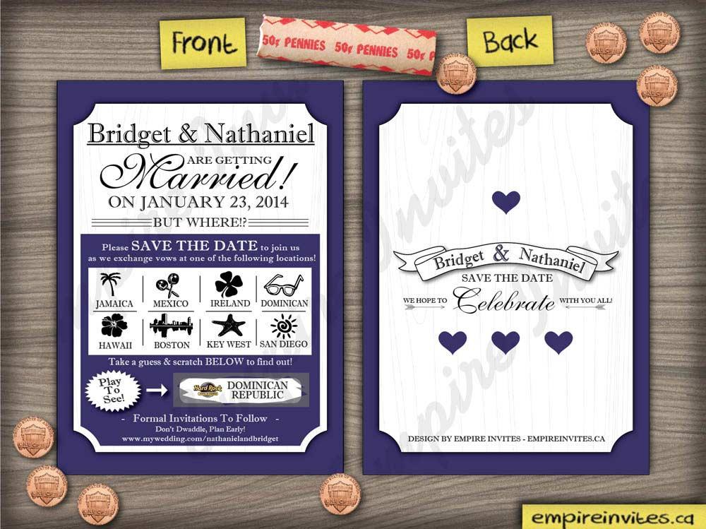 Scratch Off Save The Date - Wedding Paper Divas