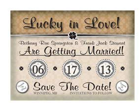 Scratch off Save the date 5