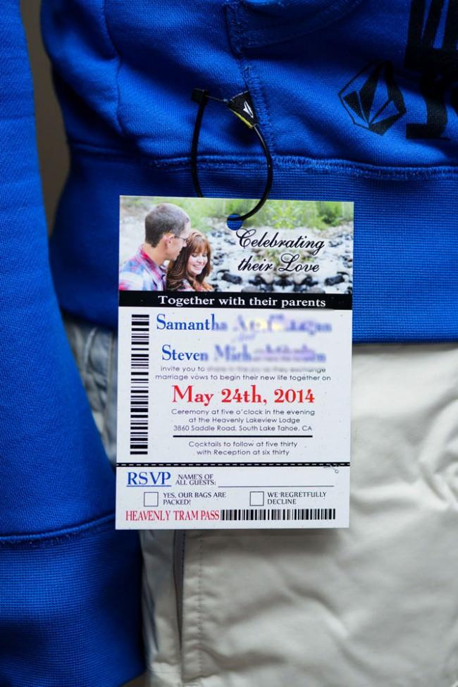 Ski Pass Wedding Invitation Lakeview Lodge Tahoe (1)