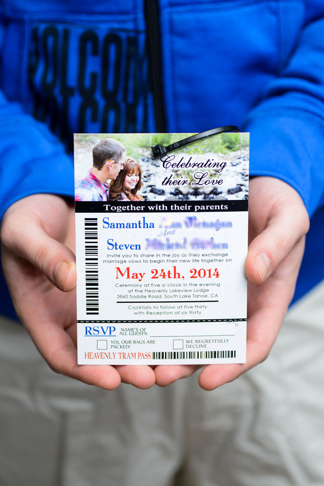 Connect The Colors >> Ski pass / lift ticket wedding invitations to Lakeview ...