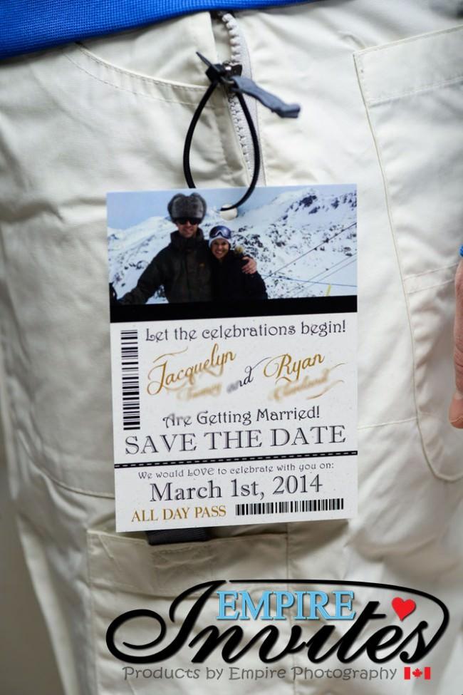Ski Pass Wedding Invitation Whistler Bc (2)